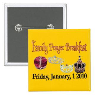 Familien-Gebets-Frühstücks-Knopf Buttons