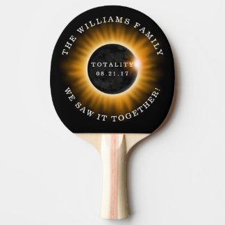 Familien-Gesamtheits-Solareklipse personalisiert Tischtennis Schläger