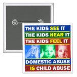 Familien-Gewalt Quadratischer Button 5,1 Cm