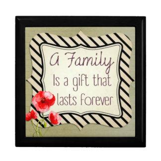 Familien-inspirierend Zitat Schmuckschachtel