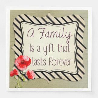 Familien-inspirierend Zitat Serviette