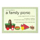 Familien-Picknick-Sommer GRILLEN Schlag-Party 12,7 X 17,8 Cm Einladungskarte