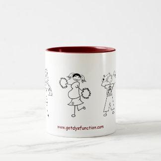 Familien-Porträt-Tasse Zweifarbige Tasse