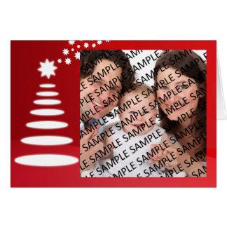 Familien-Porträt-Weihnachtsgruß-Karten-Schablone Karte