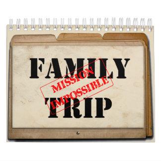 Familien-Reise-Mission Impossible-Kalender Wandkalender