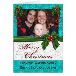 Familien-Schablonen-Weihnachten Karte