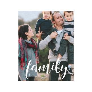 Familien-Skript-Überlagerungs-Foto Leinwand Druck