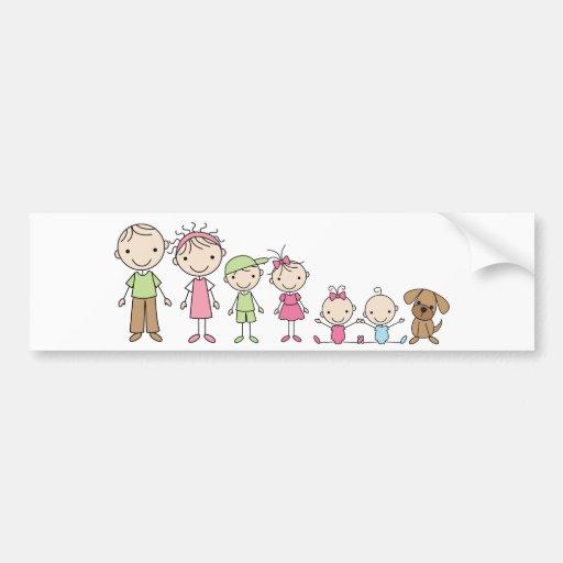 Familien-Strichmännchen-Autoaufkleber