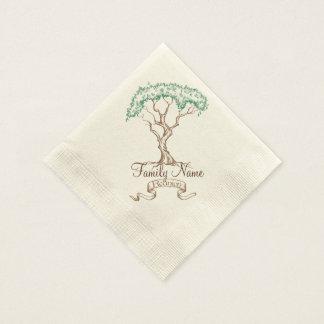 Familien-Wiedersehen-Baum Serviette