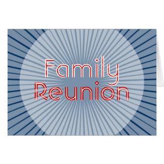 Familien-Wiedersehen-Einladungs-Karte Karte