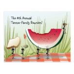 Familien-Wiedersehen-Einladungs-Postkarte