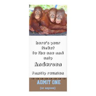 Familien-Wiedersehen-Karte lassen ein zu Personalisierte Einladung