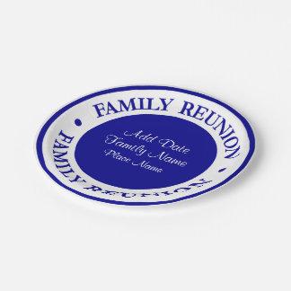 Familien-Wiedersehen-Party-Teller Pappteller