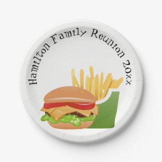 Familien-Wiedersehen personalisiert Pappteller