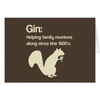 Familien-Wiedervereinigungen und Gin Karte