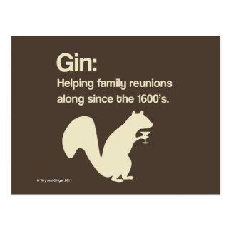 Familien-Wiedervereinigungs- und Ginpostkarte Postkarte