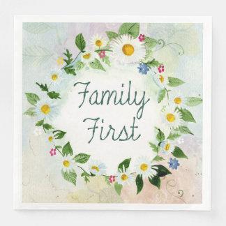 Familien-zuerst inspirierend Zitat Papierservietten