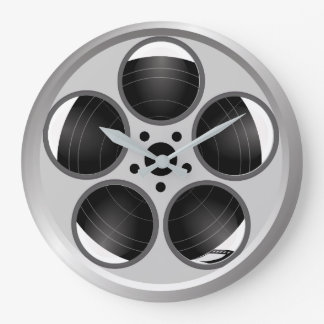 Familien-Zuhause-Theater-Film-Film-Spule Große Wanduhr