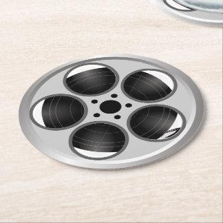 Familien-Zuhause-Theater-Film-Film-Spule Runder Pappuntersetzer