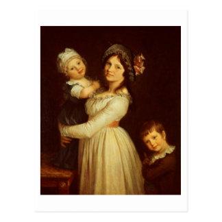 Familienporträt von Madame Anthony und ihre Kinder Postkarte