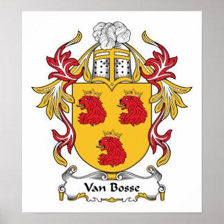 Familienwappen Vans Bosse Plakat
