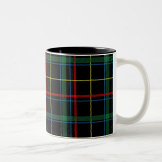 Familietartan-Muster Zweifarbige Tasse