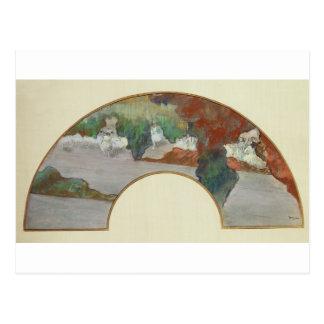 Fan Edgar Degass |, c.1879 Postkarte