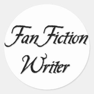 Fan-Fiktions-Verfasser Runder Aufkleber