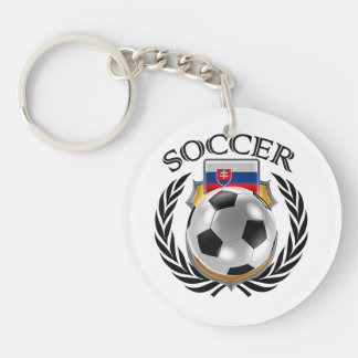 Fan-Gang Slowakei-Fußball-2016 Beidseitiger Runder Acryl Schlüsselanhänger