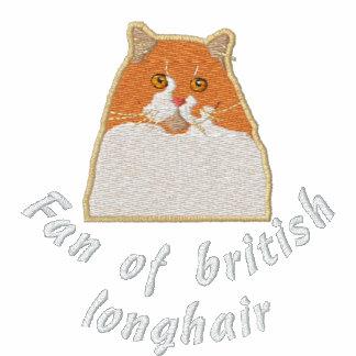 Fan of british longhair bestickte fleece track jacke