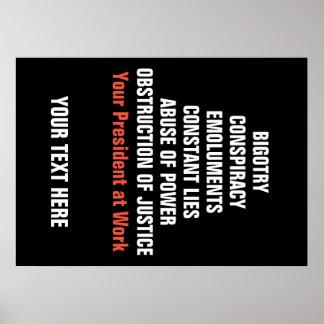 Fanatismus-Absprache-Vergütungs-Behinderung klagen Poster