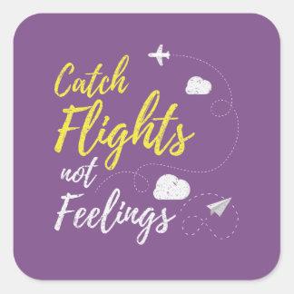 Fang-Flug-nicht Gefühls-Aufkleber Quadratischer Aufkleber