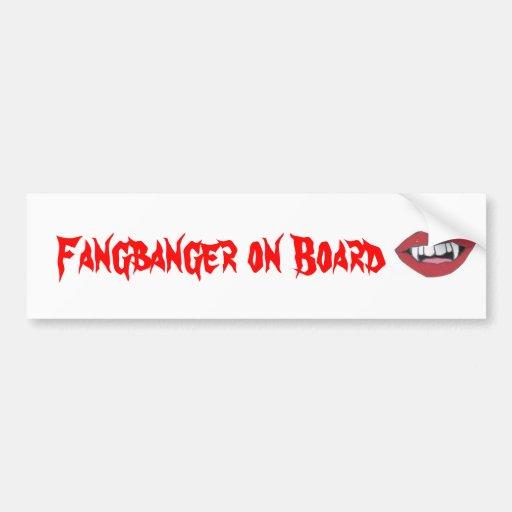Fangbanger an Bord Autoaufkleber