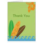 Fangen Sie eine Welle danken Ihnen zu kardieren Karte