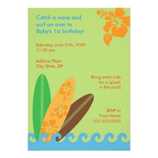 Fangen Sie einen Wellen-Geburtstag oder eine Individuelle Ankündigung