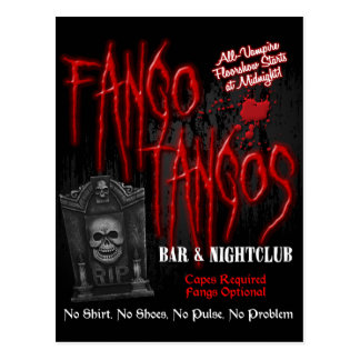 Fango Tango-Vampirs-Nachtklub Postkarte