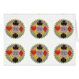 Fans POKER Meister-n: ART101 deckte Muster mit Karte