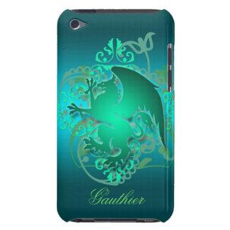 Fantasie-aquamariner städtischer Greifgrunge-Straß Barely There iPod Hüllen
