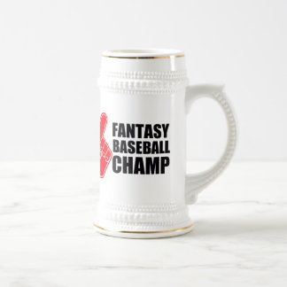 Fantasie-Baseball-Champion Bierglas