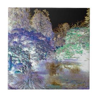 Fantasie-Baum-abstrakte Landschaft Keramikfliese