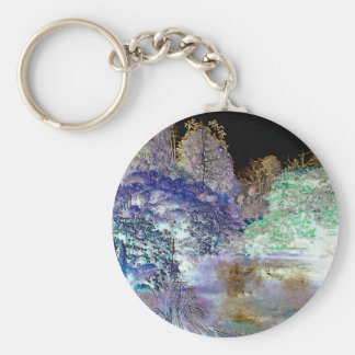 Fantasie-Baum-abstrakte Landschaft Schlüsselanhänger