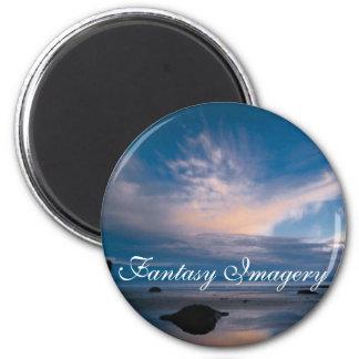 Fantasie-Bilder Runder Magnet 5,7 Cm