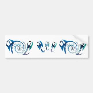 Fantasie-Blau-Drachen Autoaufkleber