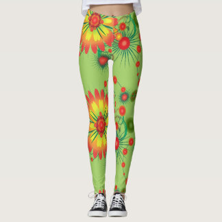 Fantasie-Blumen-Blumenstrauß-Muster Leggings