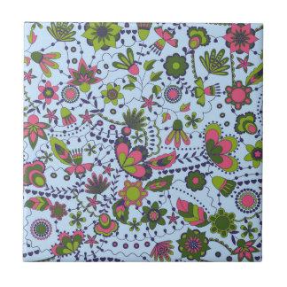 Fantasie-Blumen der Keramikfliese