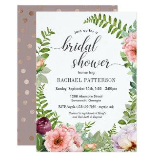 Fantasie-BlumenBrautparty-Einladung Karte