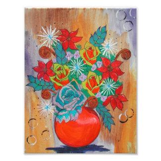 Fantasie-Blumendruck Fotodruck