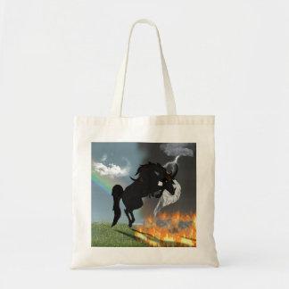 Fantasie-Dämon-Engels-Pferdegeschöpf Budget Stoffbeutel