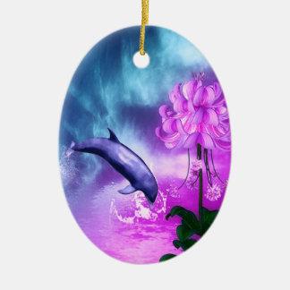 Fantasie-Delphin Keramik Ornament