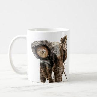 Fantasie-Elefant mit einem Tiger-Auge Kaffeetasse